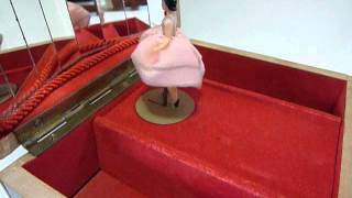 Vintage Reuge Dancing Ballerina Jewelry Box