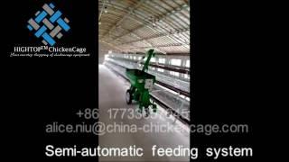 Semi-Automatic Feeding System(robotic chicken farm feeding,water feeder)