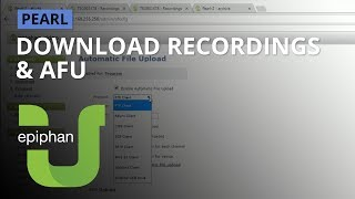 Download recordings & Automatic File Upload [Pearl family]