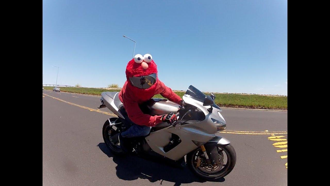 Custom Elmo Motorcycle Helmet GoPro2 HD