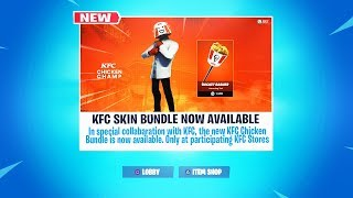 "New ""KFC SKIN BUNDLE"" in Fortnite! (Fortnite KFC BUNDLE)"