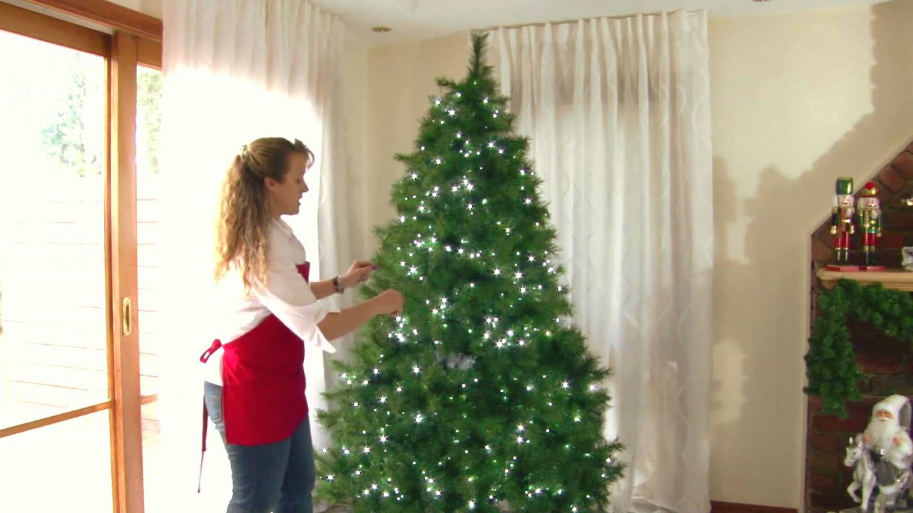 Decorating a Christmas Tree with Purple  Black and Silver   YouTube