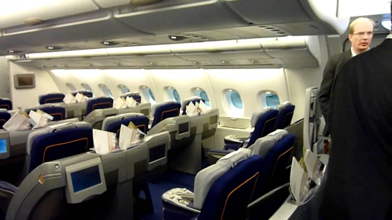 Lufthansa A380 Business Class Cabin Tour Lha380 Avgeek Hd You
