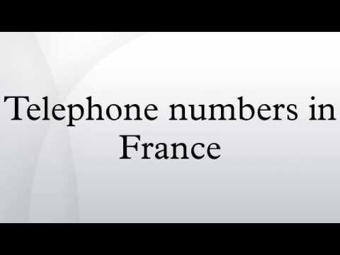 Telephone numbers in France