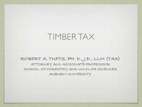 Timber Tax and Return Preparation Workshops / Topic Outline