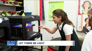 Fourth-graders at Laurel School in Shaker Heights design light box for students in Zimbabwe