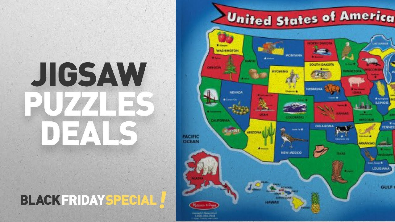 Black Friday Jigsaw Puzzles Deals Melissa Doug USA Map Floor
