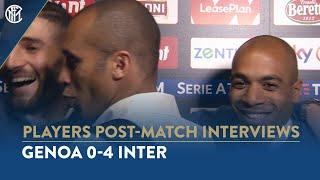 GENOA 0-4 INTER | MIRANDA AND JOAO MARIO GATECRASH GAGLIARDINI INTERVIEW! 😂⚫🔵