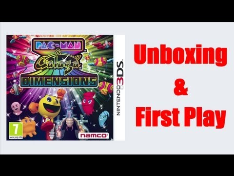 The Unboxing Show - Pacman And Galaga Dimensions Nintendo 3DS Unboxing And First Play