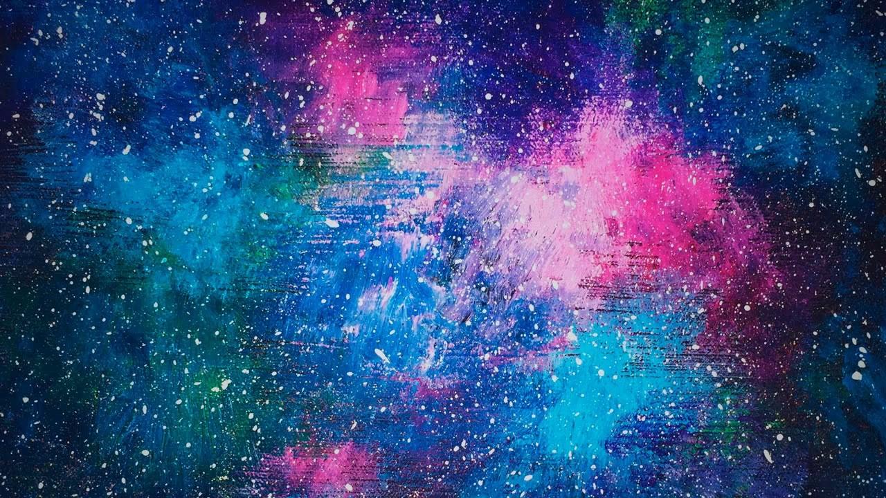 Galaxy Painting Acrylic Tutorial