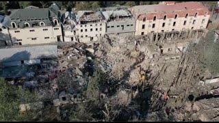 """Срочно! Армия Армении ударила по городу Гяндже ракетой """"Точка-У"""", кадры разрушений."""