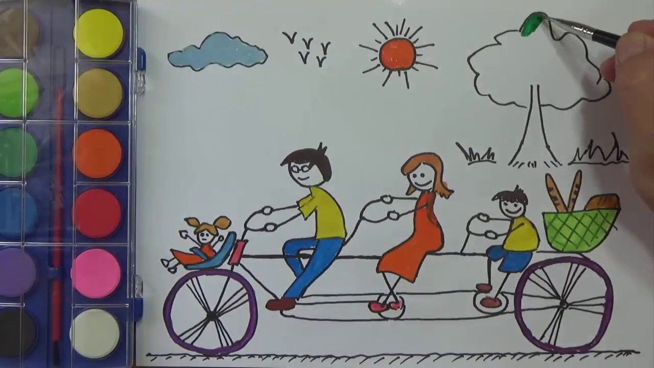 How To Draw For Kids My Family Coloring Pages Painting And Drawing