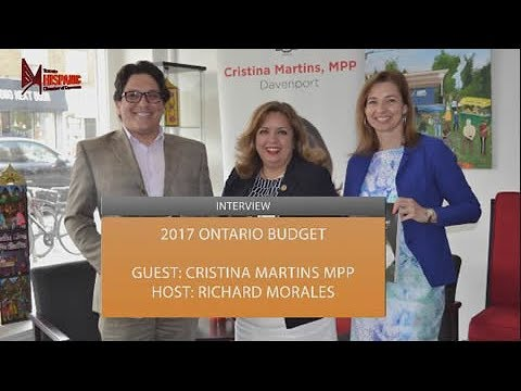 Cristina Martins MPP Interview about 2017 Ontario Budget