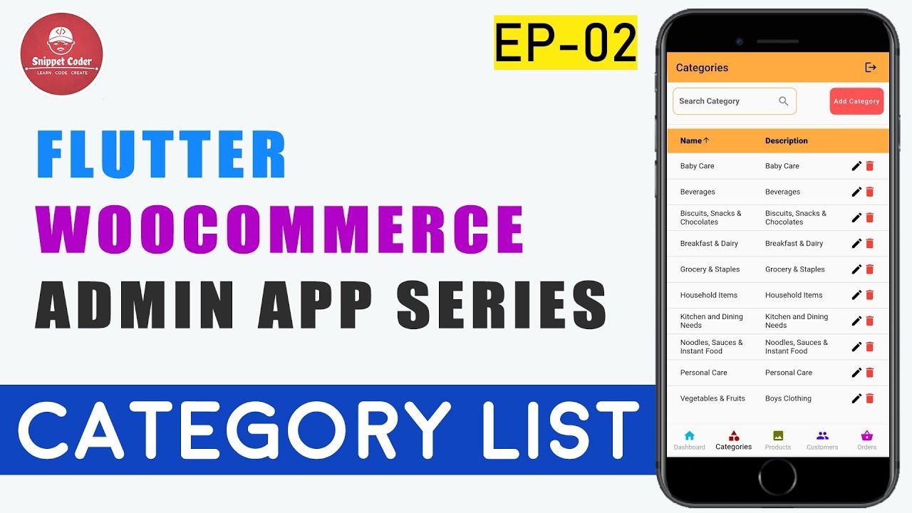 Flutter WooCommerce Admin App - EP 02 - Category List 🔥🔥