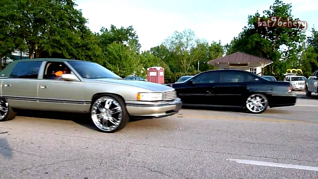 Cadillac Deville On 24 Quot Dub Nasty Amp Dodge Challenger On 24