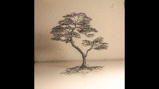 arbol bonsai de alambre