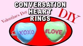 Valentine's Day Conversation Candy Heart Rings Diy Craft Klatch Jewelry Series