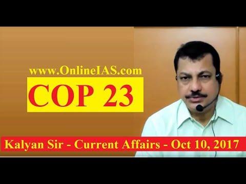COP 23 - OnlineIAS.com - October 10, 2017