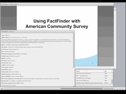 US Census Bureau Data Ferret and Advanced tips for American Fact Finder 2 (AFF2)