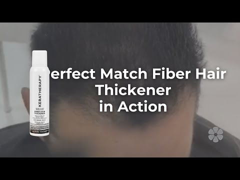 Perfect Match Fiber Hair Thickener in Action - YouTube