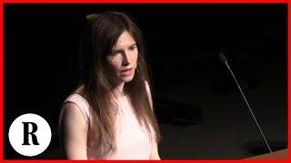 Festival Giustizia Modena, Amanda Knox con la voce rotta: