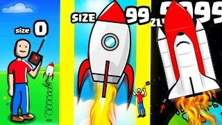 Is this the HIGHEST LEVEL STRONGEST ROCKET EVOLUTION? (9999+ SPACE LEVEL) l Roblox - Rocket Champion