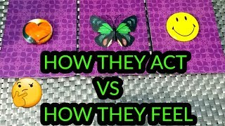 PICK A CARD 🦋 HOW THEY ACT VS HOW THEY TRULY FEEL FOR YOU ? 💯❤️👩‍❤️‍👨  (TIMELESS)
