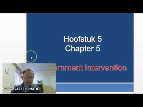 Government Intervention - Chapter 5