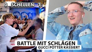 Justin reagiert auf Gucci Potter's Backpfeifen Duell.. (Brutal) | Reaktion