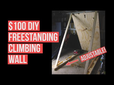 DIY Climbing Wall For Around $100. Freestanding Adjustable Bouldering/ Training Wall || Amir Creator