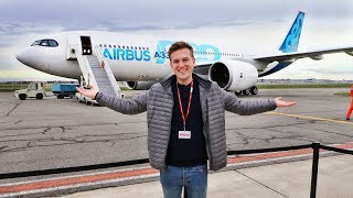 I was invited to an AIRBUS FIRST FLIGHT   A330-800neo!