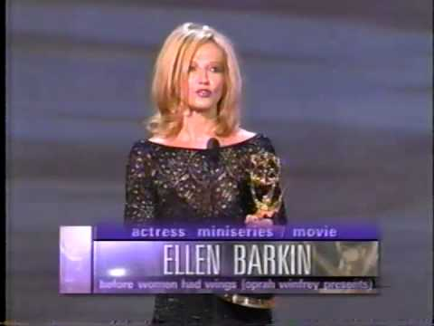 Ellen Barkin wins 1998 Emmy Award for Lead Actress in a Miniseries or Movie