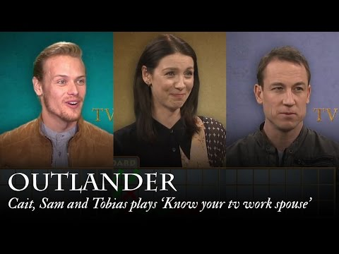 Outlander  Cait, Sam and Tobias plays 'Know your tv work spouse'