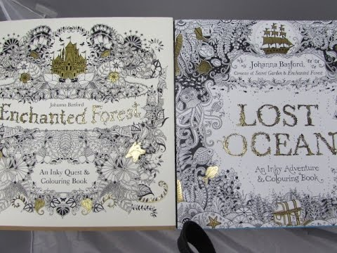 Enchanted Forest Amp Lost Ocean Flip Through Colouring Book