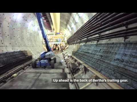 View from a drone inside the SR 99 tunnel