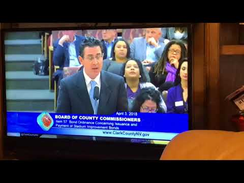 Clark County Discusses Oakland Raiders Las Vegas NFL Stadium Bonds, $750 Million Subsidy,P1