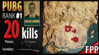PUBG Rank 1 - p0me 20 kills [SA] SQUAD FPP - PLAYERUNKNOWN'S BATTLEGROUNDS