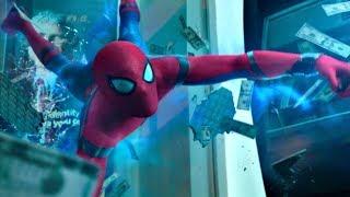 Человек-Паук Дерётся со Мстителями в Банке.(Человек-Паук: Возвращение Домой)