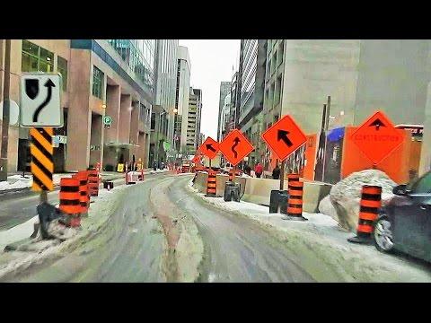 Dashcam - Slushy driving in Ottawa on Feb. 3rd 2016 (with music)