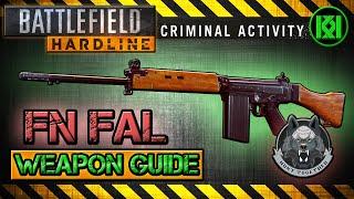 battlefield hardline fn fal review gameplay best gun setup   weapon guide bfh