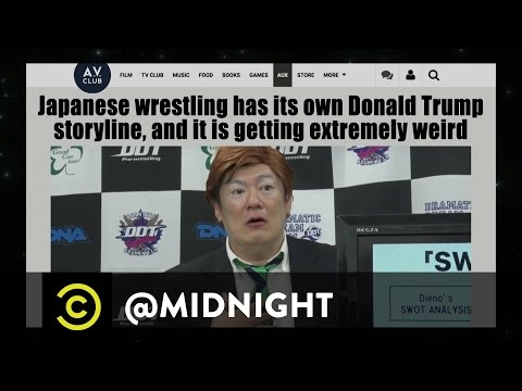 Donald Trump Takes Over Japanese Wrestling - @midnight with Chris Hardwick