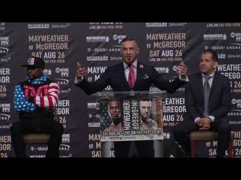 Conor McGregor Guarantees He'll Knock Floyd Mayweather Out Within 4 Rounds | ESPN