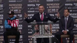 Conor McGregor Guarantees He'll Knock Floyd Mayweather Out Within 4 Rounds | ESPN thumbnail