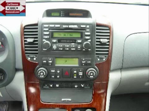 Kia Sedona Stereo Removal  YouTube