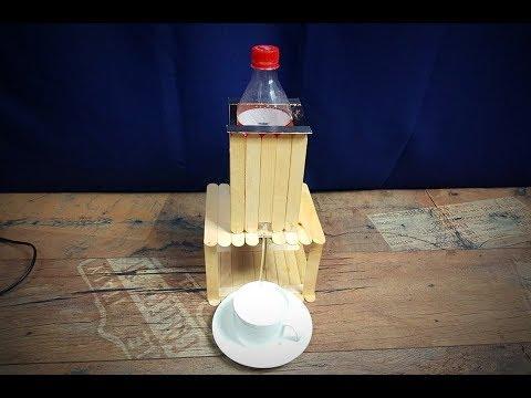 Homemade WATER DISPENSER using POPSICLE STICKS