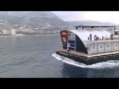 Transport of the Red Bull Energy Station to the Monaco GP