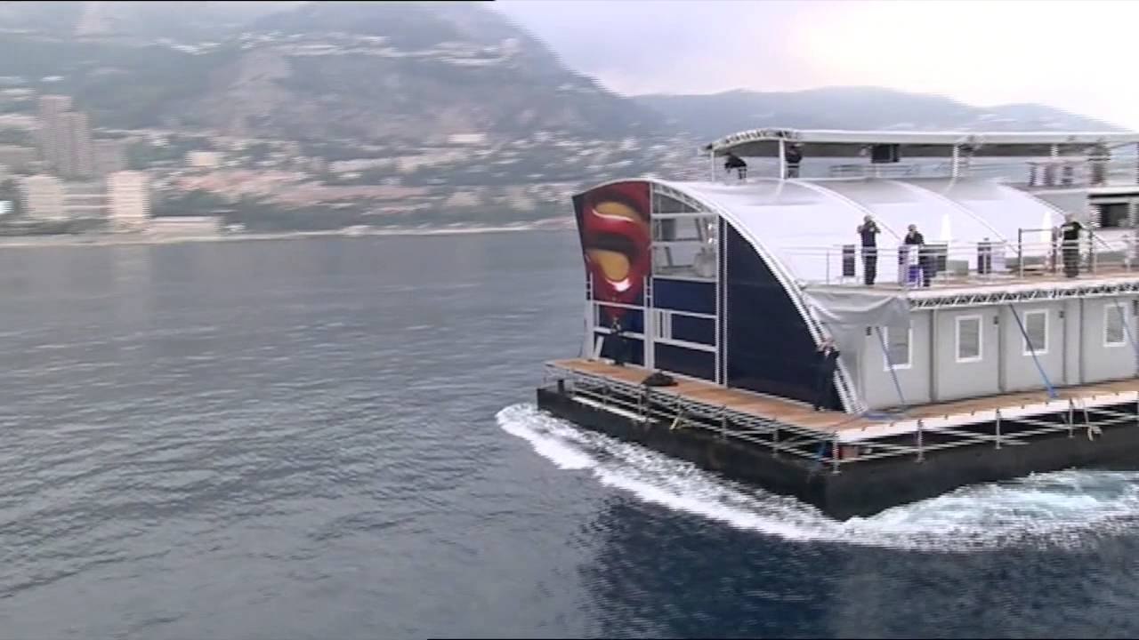 Transport of the Red Bull Energy Station to the Monaco GP - YouTube