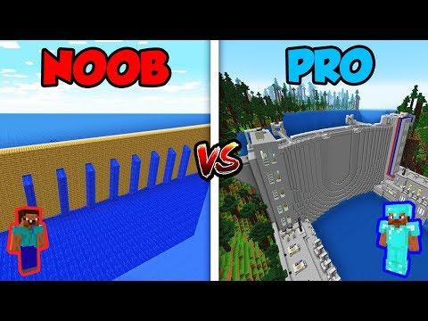 Minecraft NOOB vs. PRO: WATER DAM in Minecraft! (Animation)