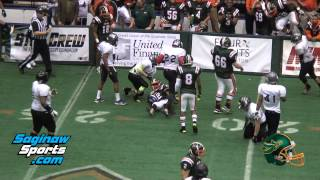 Saginaw Sting vs Detroit Thunder, CIFL Football,  3-22-14