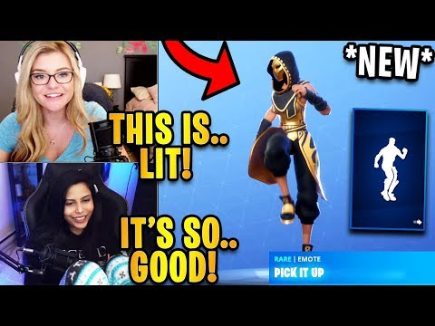 Streamers React To *NEW* Pick It Up Emote/Dance! | Fortnite Highlights & Funny Moments